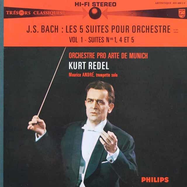 レーデルのバッハ/管弦楽組曲第1~5番 仏PHILIPS 3142 LP レコード