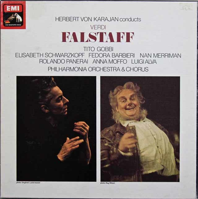 カラヤンのヴェルディ/「ファルスタッフ」全曲 英EMI 3142 LP レコード
