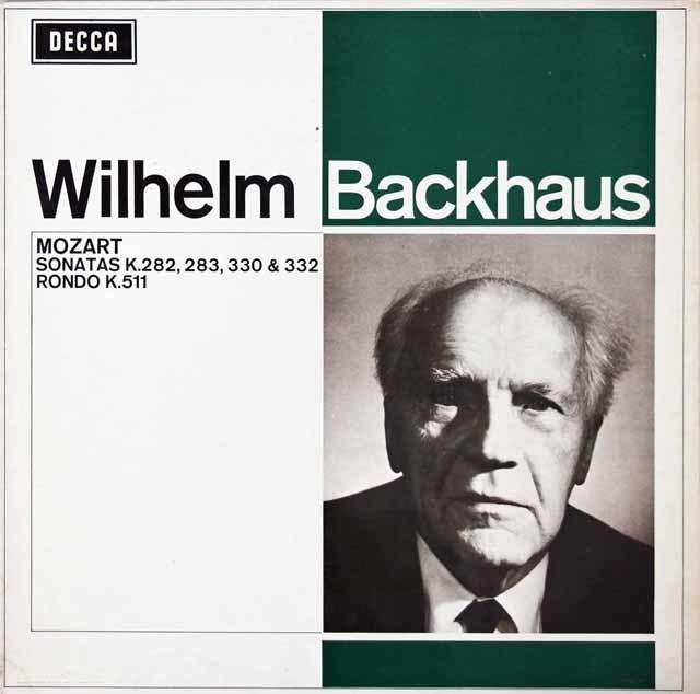 バックハウスのモーツァルト/ピアノソナタ第12番、第10番ほか 英DECCA 3142 LP レコード