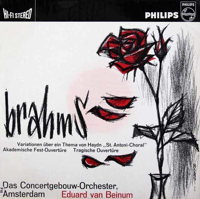 【オリジナル盤】 ベイヌムのブラームス/ハイドンの主題による変奏曲ほか 蘭PHILIPS 3142 LP レコード