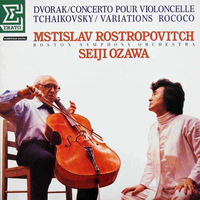 ロストロポーヴィチと小澤のドヴォルザーク/チェロ協奏曲ほか 仏ERATO 3143 LP レコード