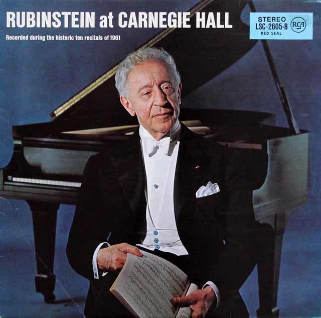ルービンシュタインの「カーネギーホール・リサイタル 1961」 独RCA 3143 LP レコード