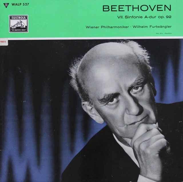 フルトヴェングラーのベートーヴェン/交響曲第7番  独ELECTROLA 3143 LP レコード