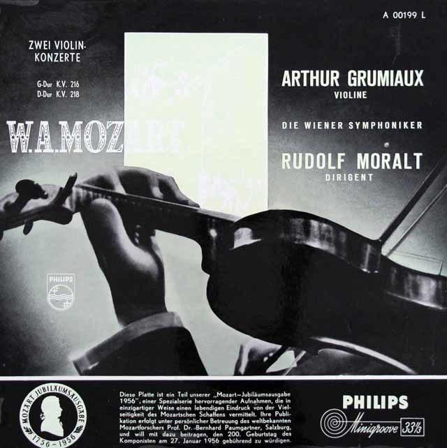 【オリジナル盤】グリュミオー&モラルトのモーツァルト/ヴァイオリン協奏曲第3&4番 蘭PHILIPS 3143 LP レコード