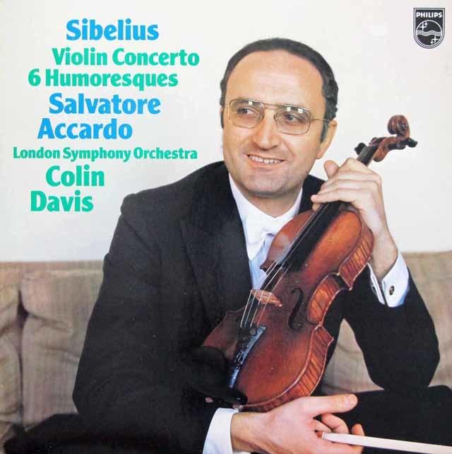 アッカルドのシベリウス/ヴァイオリン協奏曲ほか 蘭PHILIPS 3143 LP レコード
