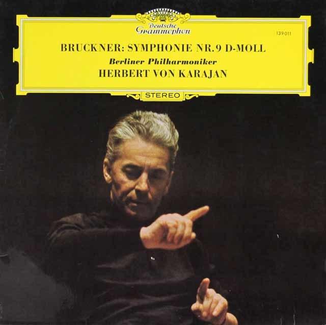 カラヤンのブルックナー/交響曲第9番 独DGG 3143 LP レコード