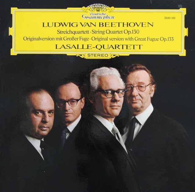 ラサール四重奏団のベートーヴェン/弦楽四重奏曲第13番 独DGG 3143 LP レコード