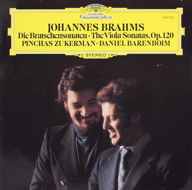 ズッカーマン&バレンボイムのブラームス/ヴィオラ・ソナタ第1&2番 独DGG 3143 LP レコード