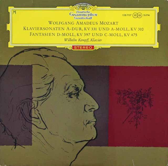 【赤ステレオ/オリジナル盤】ケンプのモーツァルト/ピアノソナタ第8&11番ほか  独DGG 3143 LP レコード