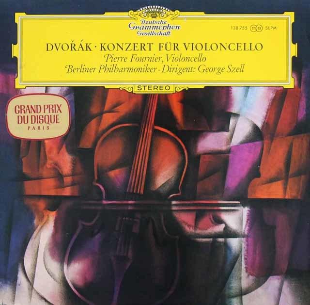 【独最初期盤】フルニエ&セルのドヴォルザーク/チェロ協奏曲  独DGG 3143 LP レコード