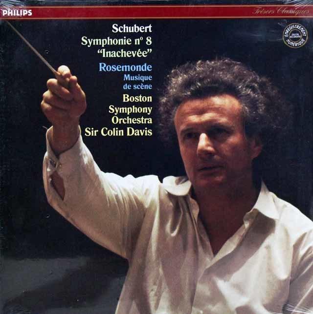 【未開封】デイヴィスのシューベルト/交響曲第8番「未完成」ほか 仏PHILIPS 3143 LP レコード