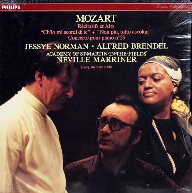 【未開封】ブレンデル、ノーマン&マリナーのモーツァルト/「どうしてあなたを忘れられよう」ほか 仏PHILIPS 3143 LP レコード