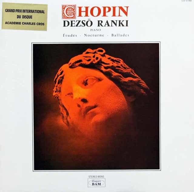ラーンキのショパン/12の練習曲 作品10ほか 仏BAM 3143 LP レコード
