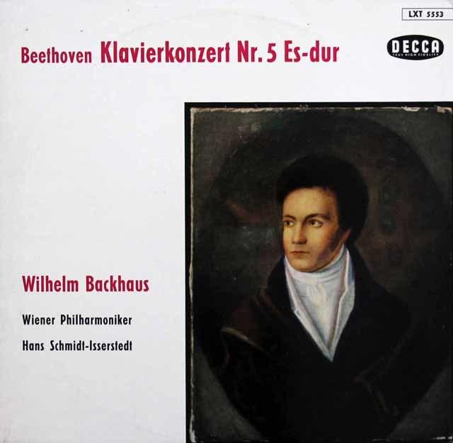 バックハウス&イッセルシュテットのベートーヴェン/ピアノ協奏曲第5番「皇帝」 独DECCA 3143 LP レコード