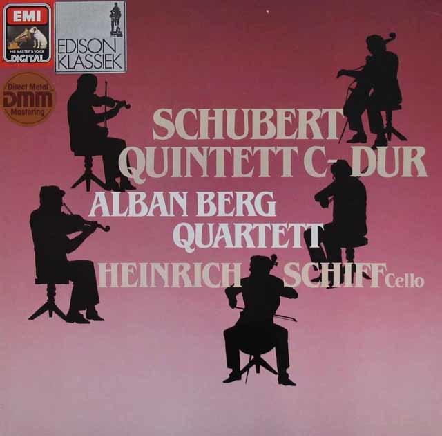 アルバン・ベルク四重奏団&シフのシューベルト/弦楽五重奏曲 独EMI 3143 LP レコード