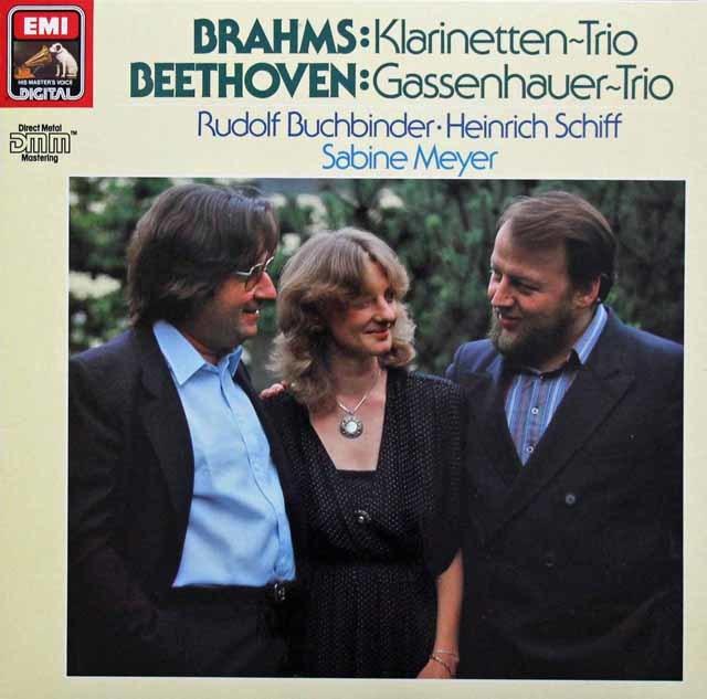 ブッフビンダー、シフ&マイヤーのブラームス&ベートーヴェン/クラリネット三重奏集 独EMI 3143 LP レコード