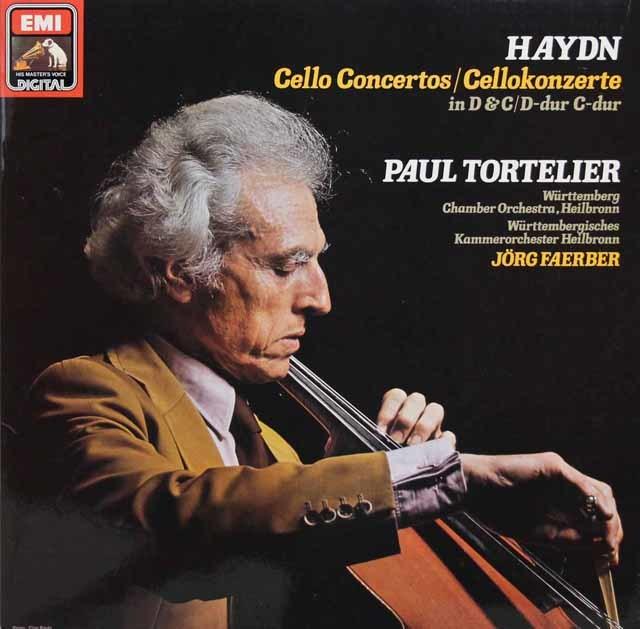 トルトゥリエのハイドン/チェロ協奏曲集 独EMI 3143 LP レコード