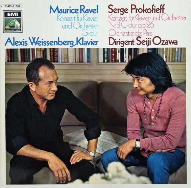 ワイセンベルク&小澤のラヴェル/ピアノ協奏曲ほか 独EMI 3143 LP レコード