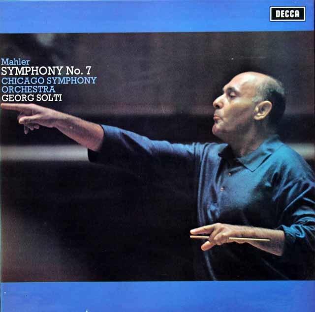 【オリジナル盤】ショルティのマーラー/交響曲第7番 英DECCA 3143 LP レコード