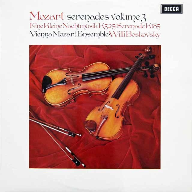 【オリジナル盤】ボスコフスキーのモーツァルト/「アイネ・クライネ・ナハト・ムジーク」ほか 英DECCA 3143 LP レコード
