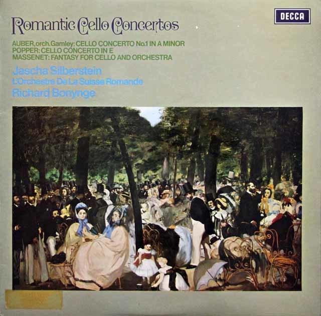 【オリジナル盤】シルバースタイン&ボニングのロマンティック・チェロ協奏曲集 英DECCA 3143 LP レコード