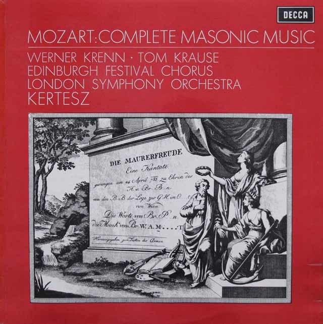 【オリジナル盤】ケルテスのモーツァルト/フリーメーソンのための音楽集  英DECCA 3143 LP レコード