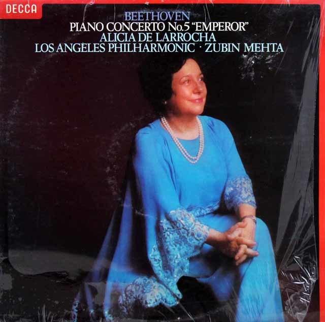 【オリジナル盤】ラローチャ&メータのベートーヴェン/ピアノ協奏曲第5番「皇帝」 英DECCA 3143 LP レコード
