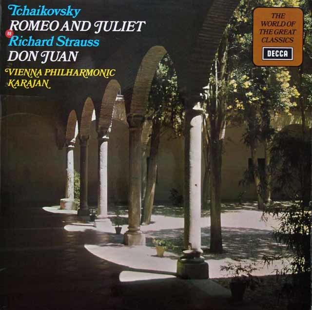 カラヤンのチャイコフスキー/「ロメオとジュリエット」ほか 英DECCA 3143 LP レコード