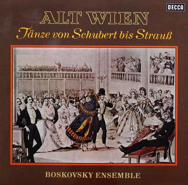 ボスコフスキーの古都ウィーンの舞曲集 独DECCA 3143 LP レコード