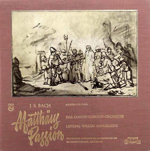 メンゲルベルクのバッハ/マタイ受難曲 蘭PHILIPS 3143 LP レコード