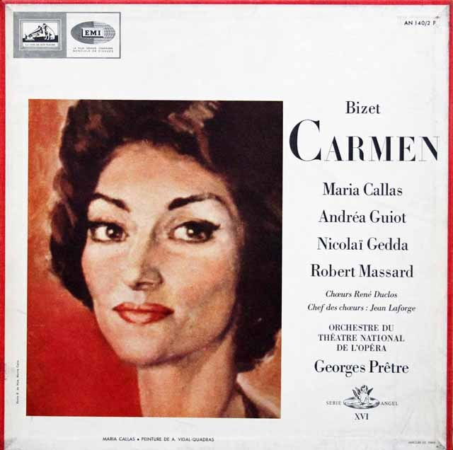 カラスのビゼー/「カルメン」全曲 仏EMI 3143 LP レコード
