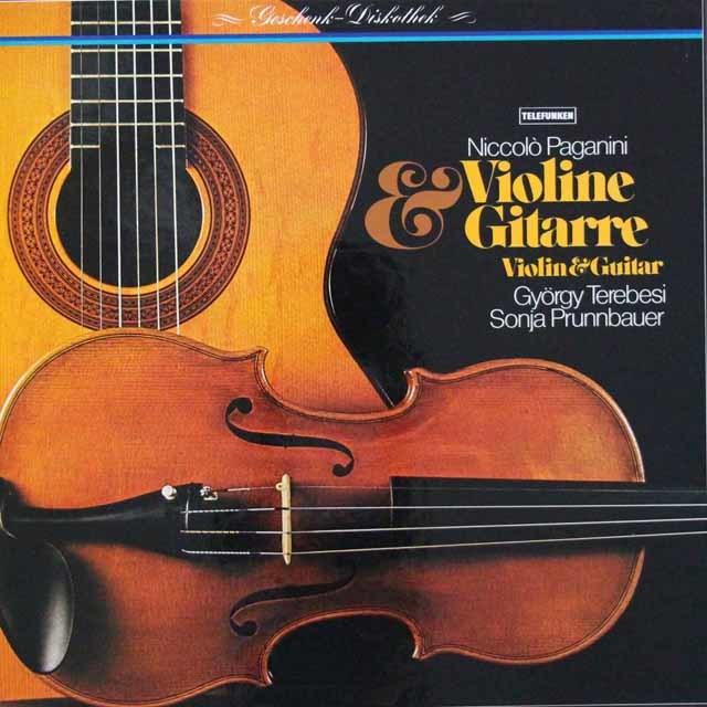 テレベシ&ブルンバウアーのパガニーニ/ヴァイオリンとギターのための作品集 独TELEFUNKEN 3143 LP レコード