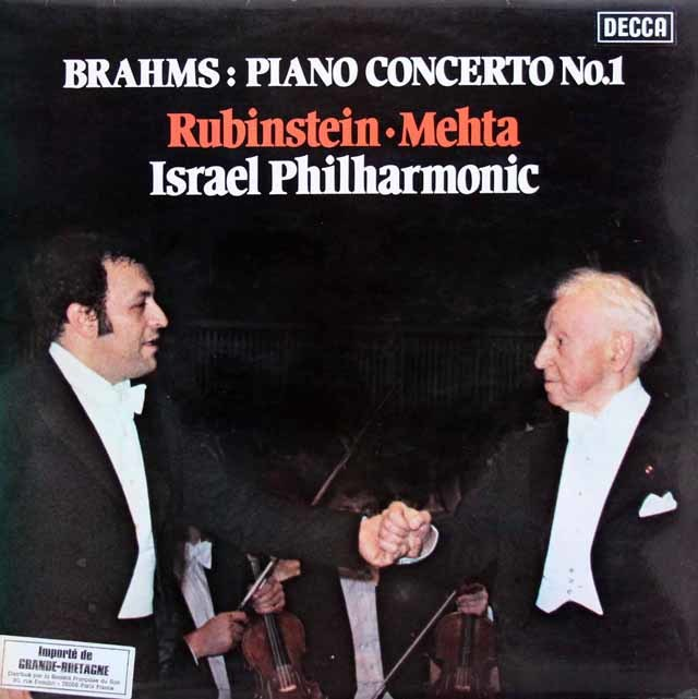 【オリジナル盤】 ルービンシュタイン&メータのブラームス/ピアノ協奏曲第1番 英DECCA 3144 LP レコード