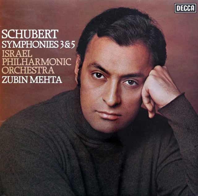 【オリジナル盤】 メータのシューベルト/交響曲第3&5番 英DECCA 3144 LP レコード