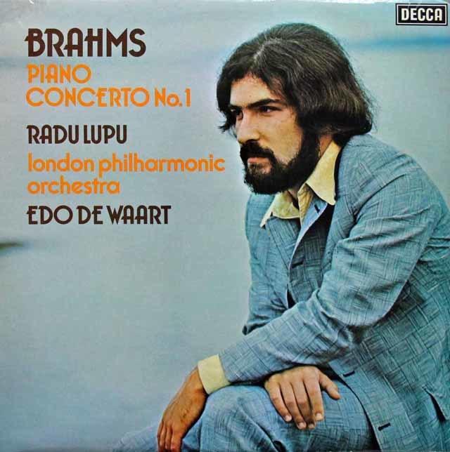 【オリジナル盤】ルプーのブラームス/ピアノ協奏曲第1番 英DECCA  3144 LP レコード