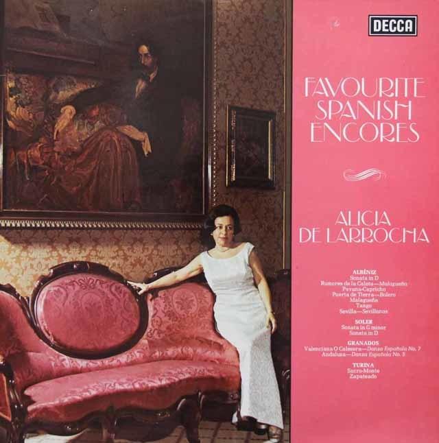 【オリジナル盤】 ラローチャのスペイン・ピアノ・アンコール 英DECCA 3144 LP レコード
