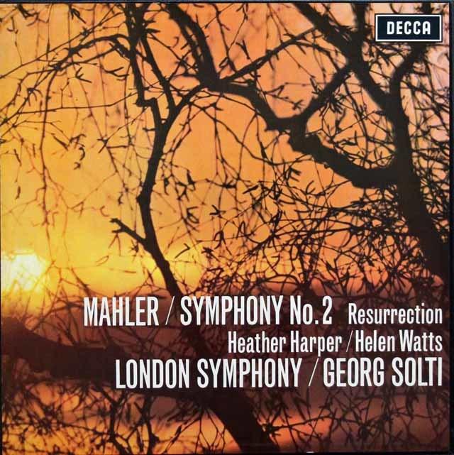 【オリジナル盤】 ショルティのマーラー/交響曲第2番「復活」 英DECCA 3144 LP レコード