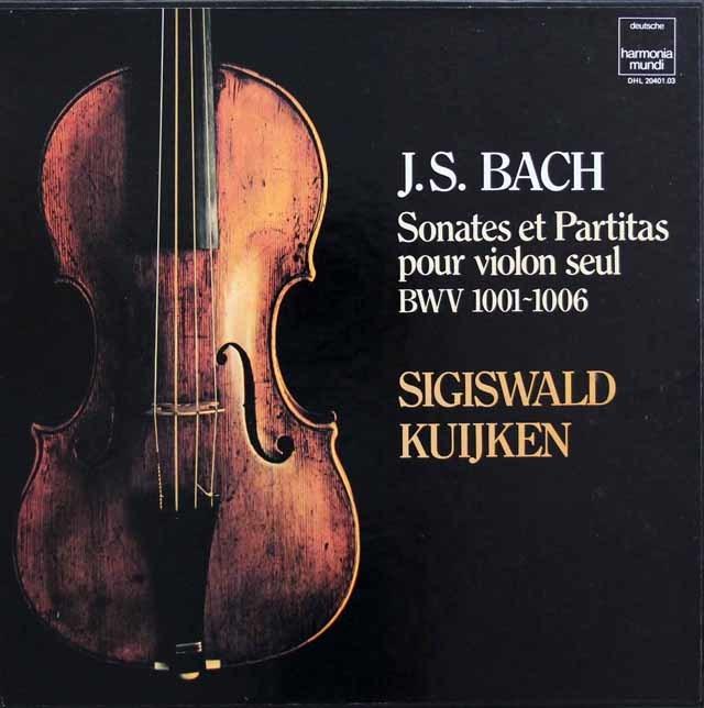 クイケンのバッハ/無伴奏ヴァイオリンのためのソナタ&パルティータ全曲 仏HM 3144 LP レコード