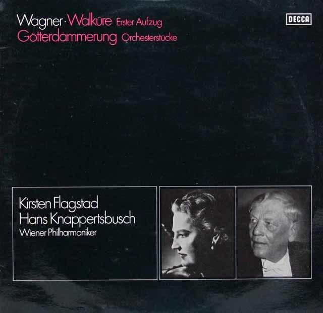 フラグスタート&クナッパーツブッシュのワーグナー/「ワルキューレ」第1幕ほか 独DECCA 3144 LP レコード