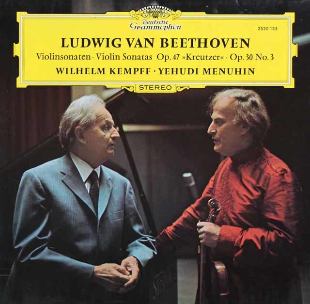 メニューイン&ケンプのベートーヴェン/「クロイツェル」ほか 独DGG 3144 LP レコード