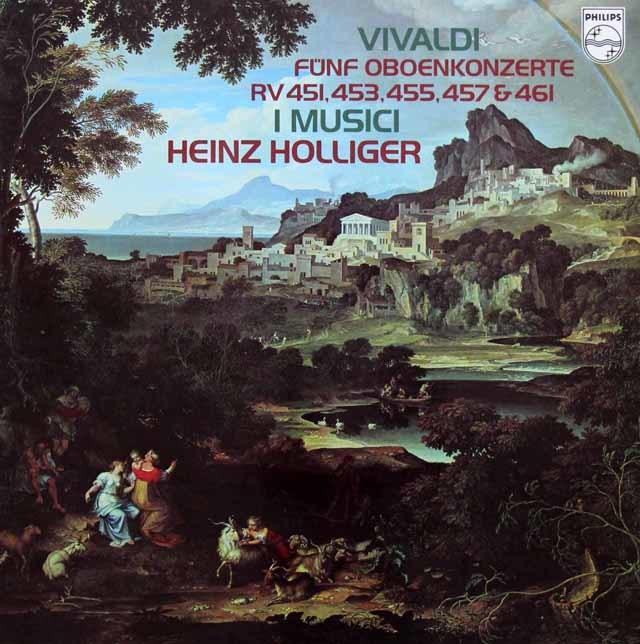 ホリガー&イ・ムジチによるヴィヴァルディ/オーボエ協奏曲集 蘭PHILIPS 3144 LP レコード
