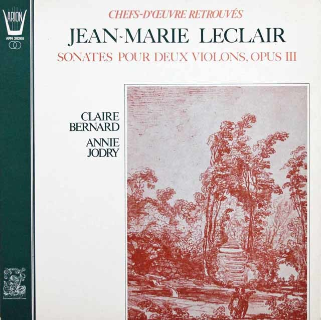 ベルナールらのルクレール/2つのヴァオリンのためのソナタ 仏ARION 3144 LP レコード