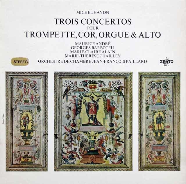 アンドレ、バルボトゥ、シャイエ、アラン&パイヤールのM.ハイドン/協奏曲集 仏ERATO 3144 LP レコード