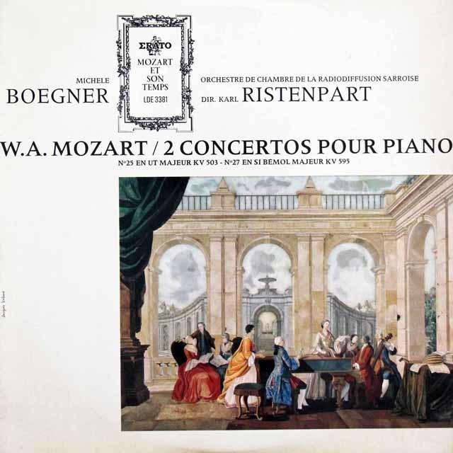 ベグネール&リステンパルトのモーツァルト/ピアノ協奏曲第25&27番 仏ERATO 3144 LP レコード