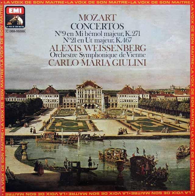 ワイセンベルク&ジュリーニのモーツァルト/ピアノ協奏曲第9&21番  仏EMI(VSM) 3144 LP レコード