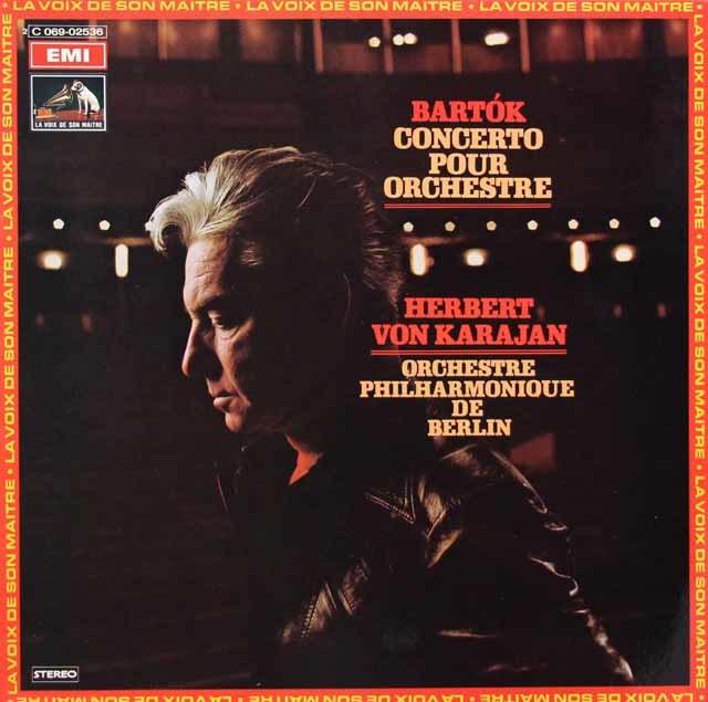 カラヤンのバルトーク/管弦楽のための協奏曲 仏EMI 3144 LP レコード