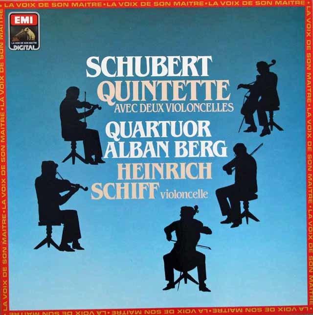 アルバン・ベルク四重奏団&シフのシューベルト/弦楽五重奏曲 仏EMI 3144 LP レコード