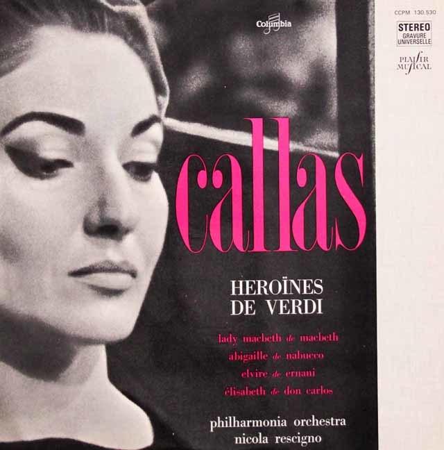 カラスのヴェルディ/アリア集 仏columbia 3144 LP レコード