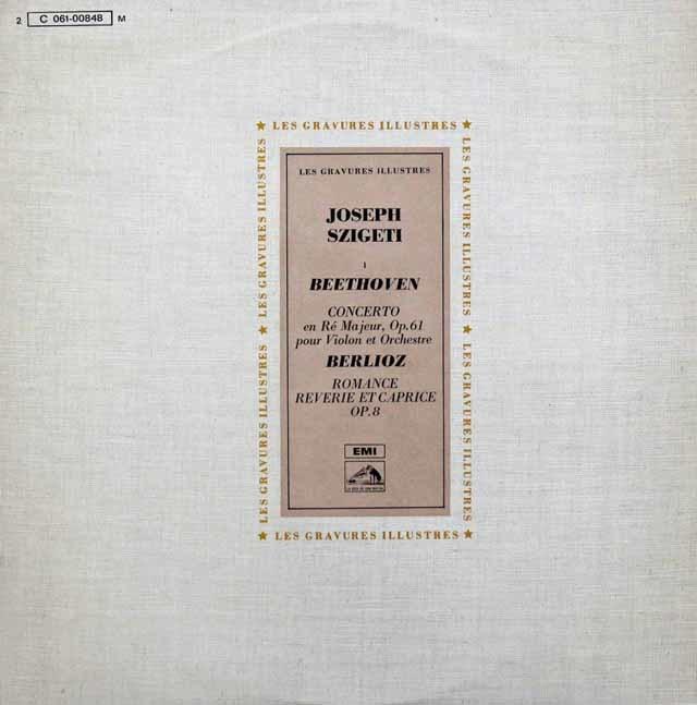 シゲティ&ワルターのベートーヴェン/ヴァイオリン協奏曲ほか 仏EMI(VSM) 3144 LP レコード