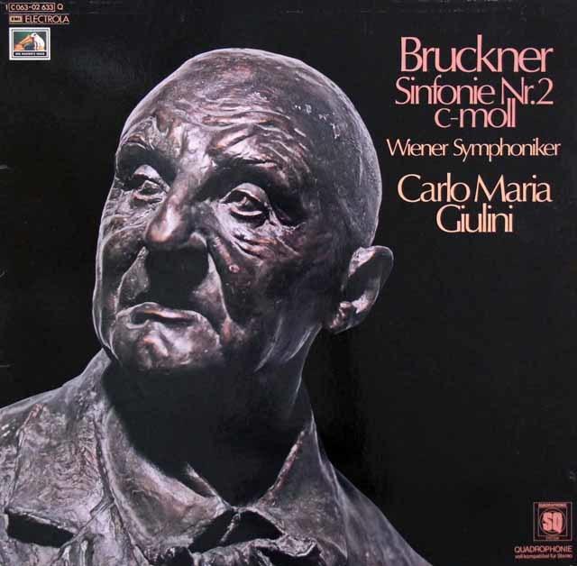 ジュリーニのブルックナー/交響曲第2番 独EMI 3144 LP レコード
